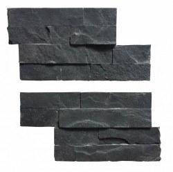 "Black Slate Angle Pieces Wall Cladding, per 4""X14"" pc"