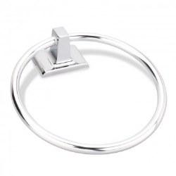 Elements Bridgeport Towel Ring in Polished Chrome