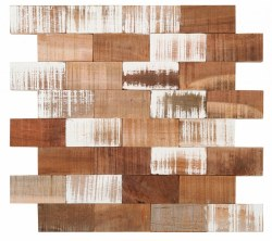 """Washed Wood Brick Interlocking Mosaic on 13X14.4"""" Sheet"""