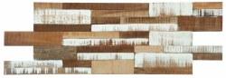 "Washed Wood Brick Mix Interlocking Mosaic on 21X8"" Sheet"