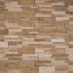 Casa Blend 3D Honed Split Face Travertine Ledger