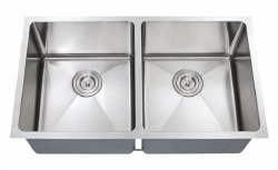 "Chef Series 32X18"" Double Equal Bowl Undermount 16 gauge Kitchen Sink"
