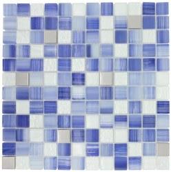 Directions XHT305 Infinite Blue Mosaic on 12x12 Sheet