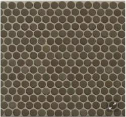 "360 Shale Matte Penny Round Mosaics 3/4"" on 12X12 Sheet, DEC360SHA34M"
