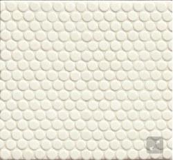 "360 White Matte Penny Round Mosaics 3/4"" on 12X12 Sheet, DEC360WHI34M"
