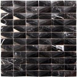 "Diamond Marquina Mosaic on 12X12"" Sheet"