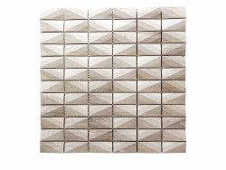 """Diamond White Wood Mosaic on 12X12"""" Sheet"""