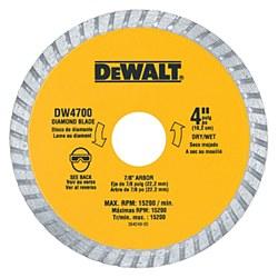 """Dewalt 4"""" Dry Cut Diamond Tile Cutting Blade"""