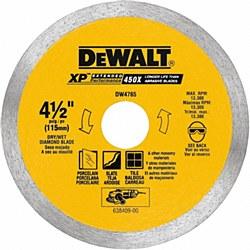 """Dewalt 4-1/2"""" Porcelain Tile Cutting Blade"""