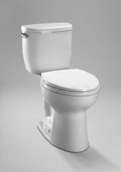 Toto Entrada 2-pc Toilet with 1.28 GPF in Cotton White