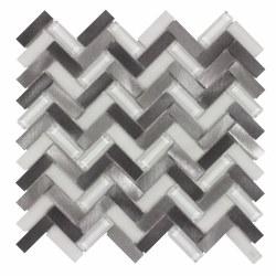 Metal Wave Mosaic Azore Moon on 10.75X11.15 Sheet