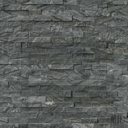 Glacial Black Marble Split Face Ledger Stone, per s/f
