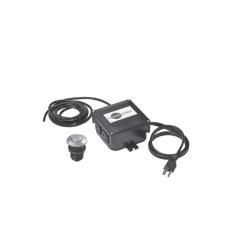 Insinkerator Sinktop Air Switch Dual Outlet Box, Satin Nickel