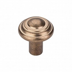 "Aspen Button Knob 1-1/4"" in Light Bronze"