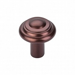 "Aspen Button Knob 1-1/4"" in Mahogany Bronze"