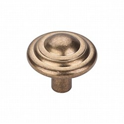 "Aspen Button Knob 1-3/4"" in Light Bronze"