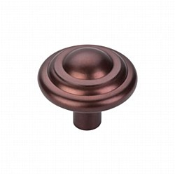 "Aspen Button Knob 1-3/4"" in Medium Bronze"