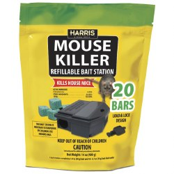 Mouse Killer 14oz with Refillable Bait Station, MBARS-20