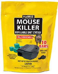 Mouse Killer 8-0.7oz. bait blocks with refillable bait station, MBARS