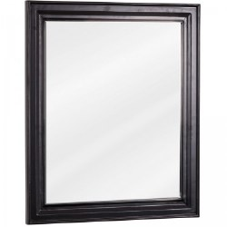 "Douglas Black 20X24"" Mirror with beveled edge"
