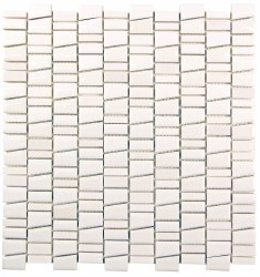 "Mirada K White Mosaic on 11.7 X 12.5"" Sheet"