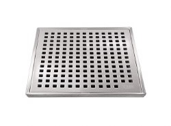 "Lagos Mira Square Shower Drain 4"" in Satin finish"
