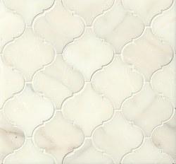 Calacatta Oro Arabesque Mosaic Honed 12.25X13.25, per sheet