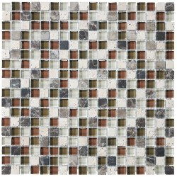 "Bliss Cabernet 5/8"" on 12x12"" Mosaic, per sheet"