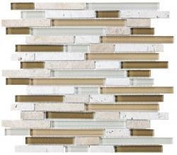 Bliss Bamboo Random Linear Mosaic, per sheet
