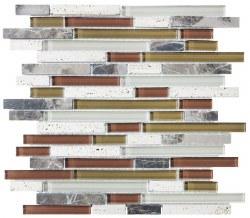 Bliss Cabernet Random Linear Mosaic, per sheet