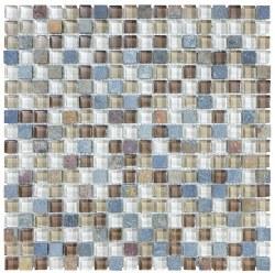 "Bliss Amber Tea 5/8"" on 12x12"" Mosaic, per sheet"