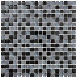 "Bliss Black Timber 5/8"" on 12x12"" Mosaic, per sheet"