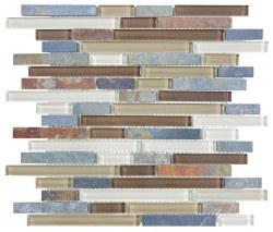 Bliss Amber Tea Random Linear Mosaic, per sheet
