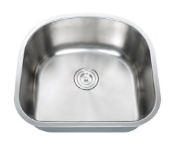 "Universe PEGASUS 18 Gauge 23-1/4"" Undermount Single Bowl Kitchen Sink in Stainless"