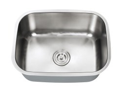 "Universe INDUS 18 Gauge 23-1/2"" Undermount Single Bowl Kitchen Sink in Stainless"