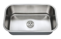 "Universe URSA 16 Gauge 30"" Undermount Single Bowl Kitchen Sink in Stainless"
