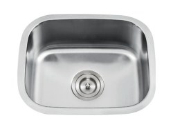 "Universe DRACO 18 Gauge 18"" Undermount Single Bowl Kitchen Sink in Stainless"