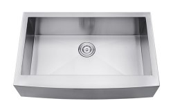 Farmhouse Apron Front Stainless Steel Single Sink 32-7/8X20-3/4""