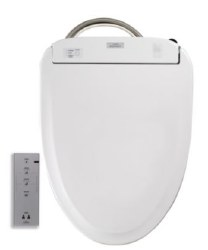 Toto S350E Elongated Washlet with Auto Open/Close in Cotton White