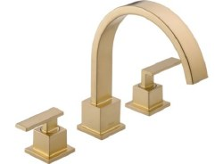 VERO, Roman Tub Trim, 3-Hole, in Champagne Bronze