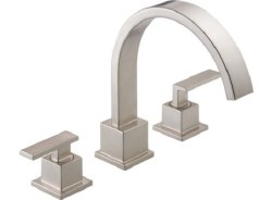 VERO, Roman Tub Trim, 3-Hole, in Brilliance Stainless