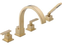 VERO, Roman Tub Trim with Hand Shower, in Champagne Bronze