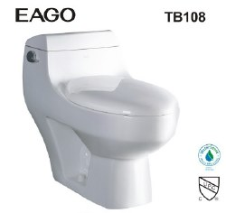 T-108 1-PC Elongated 1.28GPF Toilet, in White, TB108