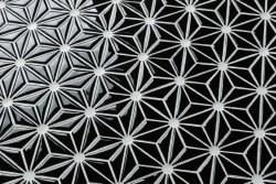 Triangle Black Ceramic Mosaic on 12X12 Sheet