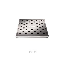 "Lagos Tulia Square Shower Drain 4"", in Polished Finish"