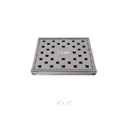 "Lagos Tulia Square Shower Drain 4"", in Satin Finish"