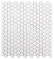 CC White Matte Penny Round Mosaics on 12X12 Sheet