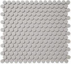 CC Grey Matte Penny Round Mosaics on 12X12 Sheet, UFCC116-12M