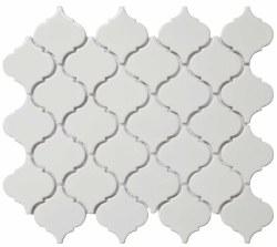 "CC White Bright 2"" Lantern Mosaics on 12X12 Sheet, UFCC118-12M"