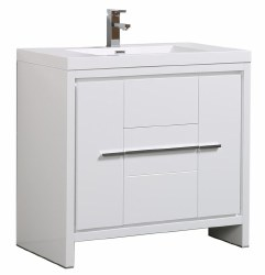 "Granada Novo 36"" Vanity Set in White"